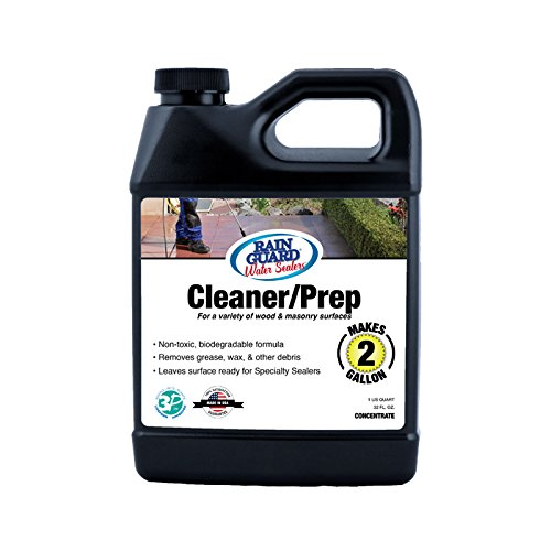 Rainguard International SP-1003 32 oz. Concentrate (Makes 2 gal) Cleaner/Prep for Wood and Masonry Surfaces, Clear, Pail