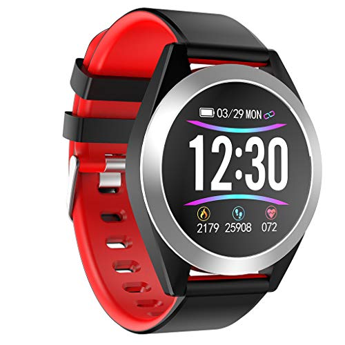 Big Smart Watch Android iOS Sports Fitness Calorie Wristband Wear Smart Watch for Father Men Boys Boyfriend Lover's Birthday (Red Alert 3 Xbox 360)
