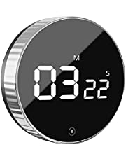 Kitchen Timer, VOLUEX Magnetic Countdown Timer, Volume Adjustable Large LED Display Digital Timer for Food Cooking, Study, Classroom, Fitness, One Button Operation for Kids, Adults and Elderly