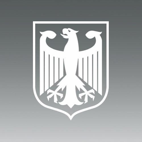 - (2x) German Crest Eagle - Deutschland - Sticker - Decal - Die Cut
