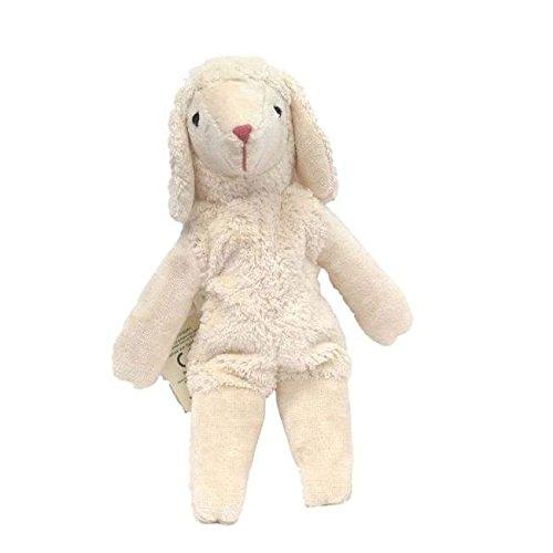Senger Stuffed Animal - Lamb with Cherry Stones - Handmade 100% Organic Cotton (White - 12 Inches Tall) by Senger