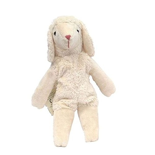 Senger Stuffed Animal - Lamb with Cherry Stones - Handmade 100% Organic Cotton (White - 12 Inches Tall) ()