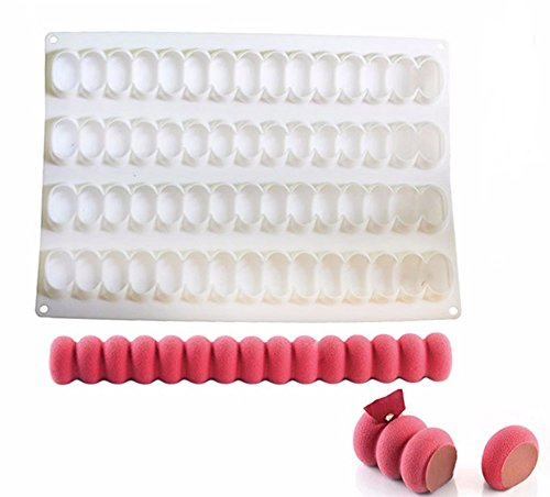 New Arrival White Silicone Infinity Shape Cake Molds for Twinkie Energy Brownie Roll Dessert Pan Baking Brownie Chiffon Sponge Cakes (Homemade Halloween Makeup Zombie)