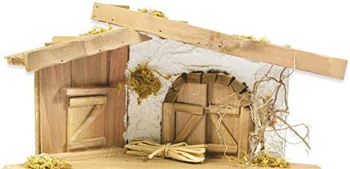 Chapa estriada palo navidad de Belén – Decoración navideña Jesús nacimiento Noche de Navidad Milagro Sagrada: Amazon.es: Juguetes y juegos