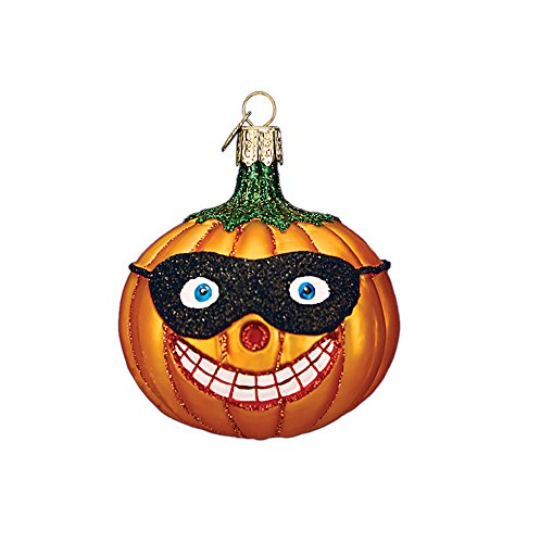 Old World Christmas Ornaments: Masked Jack O'Lantern Glass Blown Ornaments for Christmas Tree]()