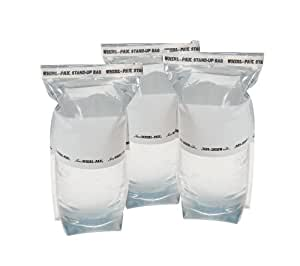 Survival Water Bags - Outdoors and Camping 1 Liter Stand Up Emergency Water Bag (Pack of 3)