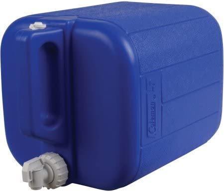 5 Gallons Blue Coleman Jug with Water Carrier