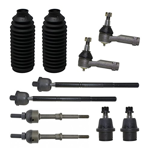 10-Piece Front Suspension Kit 2WD ONLY - 2 Lower Ball Joint, All 4 Tie Rod, 2 STRAIGHT SHAPE Sway Bars, 2 Tie Rod Boots - for 2005-2008 Ford F-150 - [2006-2008 Lincoln Mark LT] - 2WD ONLY