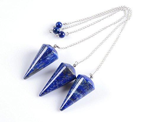Amandastone Natural Gemstone Lapis Cone Reiki Chakra Pendant Pendulum