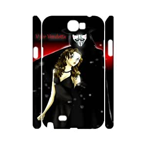 C-EUR V for Vendetta Customized Hard 3D Case For Samsung Galaxy Note 2 N7100