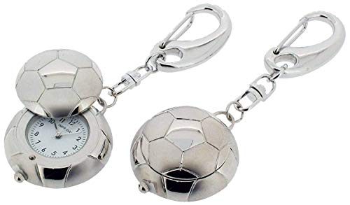 Football Cover Beckett (Gift Time Products Unisex Football with Cover Clock Key Ring - Silver)