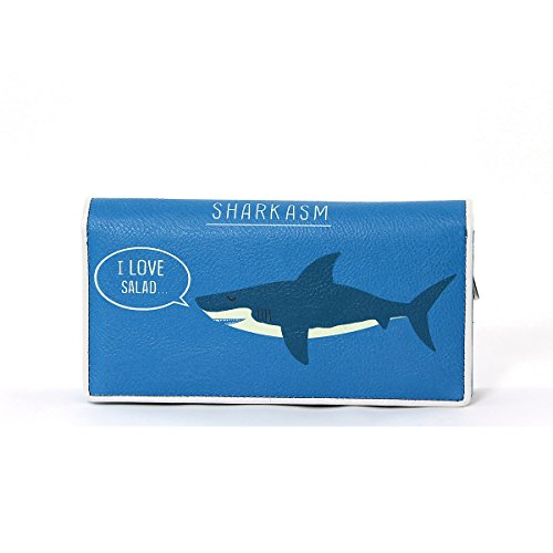 I Love Salad Sharkasm Bi-Fold Zip Around Wallet