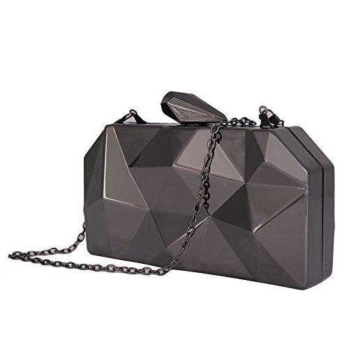 Evening Evening For Alloy BIG Handbags Cocktail Wedding Handbags Pearl Clutch Evening SALE Flower Black Beaded xwqnaU8