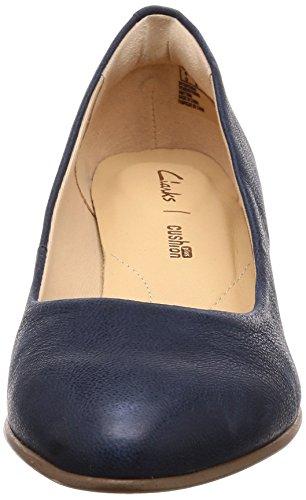 Clarks La Cour Mena Fleur Womens Chaussures Marine xYMKJ