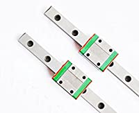 TEN-HIGH linear rail, 2 set CNC Parts MR MGN7/MGN9/MGN12/MGN15/MGW7/MGW9/MGW12/MGW15 Miniature Linear Guide Rail Way Slide+MGNC Slider by TEN-HIGH