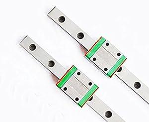 TEN-HIGH linear rail, 2 set CNC Parts MR MGN7/MGN9/MGN12/MGN15/MGW7/MGW9/MGW12/MGW15 Miniature Linear Guide Rail Way Slide+MGNC Slider by TEN-HIGH