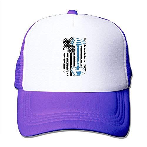 Tone Flag Weight Cap longkouishilong Gorras Mesh béisbol Adjustable Hat American Lifting Two Trucker gwYwtzqF