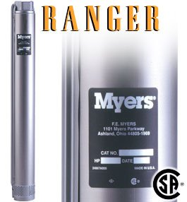 SS75-80 71/2 hp Ranger Pump - Myers Submersible Well Pump