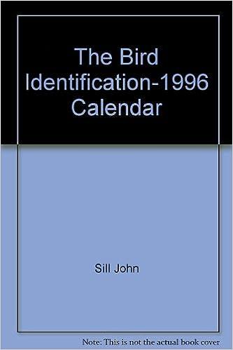 The Bird Identification 1996 Calendar Sill John Abrams