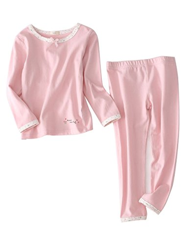 Autumn Long Sleeve Pajamas Set for Girls Boys Kid's Costumes Cotton Tops and Pants (8, Pink) by BLOSSOMLIFE (Image #5)