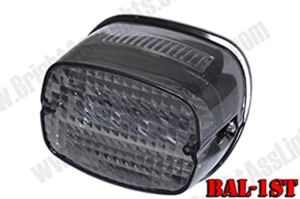 Bright Ass Lights Taillight With Multiple Strobe Patterns For Harley  Davidson Models   Squareback Style With Design Ideas