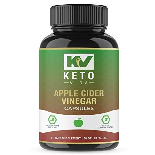 Apple Cider Vinegar Capsules - Natural Fast Weight Loss for Women, Detox and Cleanse Pills to Help Digestion and Bloating Relief, Extra Strength Formula