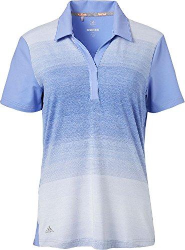 Advantage Golf - adidas Women's Advantage Ombre Golf Polo (Chalk Purple, X-Large)