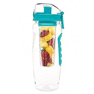 Best Fruit Infused Water Bottle - Large 32 Oz - Teal - Infusion H2O (More Color Options)
