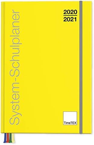 TimeTex System-Schulplaner A4-Plus Gelb - Schuljahr 2020-2021 - Lehrerkalender - Lehrertimer - 10750 - Neu – mit breitem Verschlußgummi