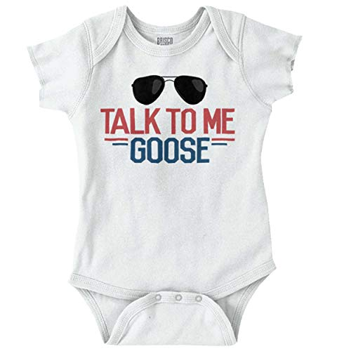 - Talk to Me Goose Funny Movie Newborn Baby Romper Bodysuit White