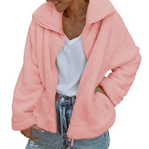 XOWRTE Women's Coat Vintage Solid Zipper Jacket Winter Overcoat Outwear