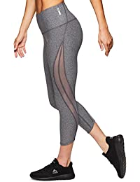 Active Women's Capri Legging with mesh Inserts and X Straps