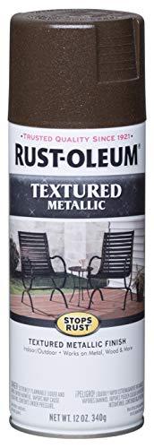 (Rust-Oleum 262660 Metallic Textured Spray Paint, 12 oz, Mystic Brown)