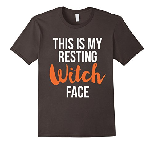 Cheerleader Jock Costume - Mens Funny Resting Witch Face Costume Tshirt - For Halloween Medium Asphalt