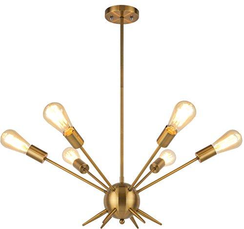 Brass 6 Light Pendant - 2