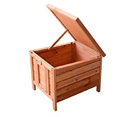 Pawhut Small Wooden Bunny Rabbit / Guinea Pig House