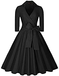 GRACE KARIN Vintage Knee-Length Bodycon Dress for Women CL7597