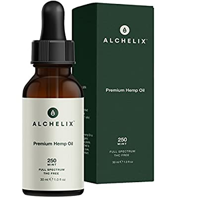 Hemp Oil Extract :: Alchelix Premium All Natural Drops for Anxiety, Pain Relief, Stress, Relaxation, Sleep :: Herbal Anti Inflammatory Supplement, Omega 3 6 9 Promotes Joint Support :: 250mg 1oz Mint