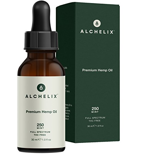 Hemp Oil Extract :: Alchelix Premium All Natural Drops for Anxiety, Pain Relief, Stress, Relaxation, Sleep :: Herbal Anti Inflammatory Supplement, Omega 3 6 9 Promotes Joint Support :: 250mg 1oz Mint For Sale