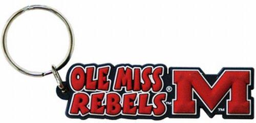 NCAA Ole Miss Rebels Festive PVC Keychain