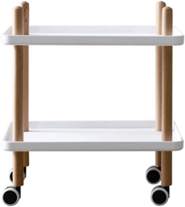 Best Verkopende LiRuiPengBJ GWDJ bijzettafeltje, zijde/koffiek/snack/bewaartafel met wieltjes voor thuis, woonkamer, kantoor, 2-dieren, nachtkastje, Utility, rolwagen, hoektafel wit emRvUwg