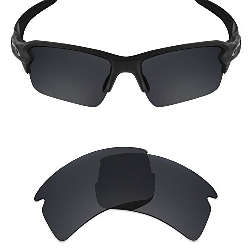 Gray Tint Lenses - Mryok Polarized Replacement Lenses for Oakley Flak 2.0 XL - Stealth Black
