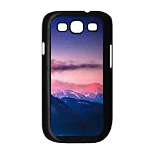 Samsung Galaxy S3 Case,Snowy Mountain Range Stars Tilt Shift Hard Shell Back Case for Black Samsung Galaxy S3 Okaycosama451914