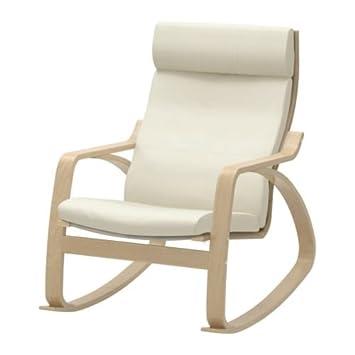 Amazon.com: IKEA Rocking Chair Birch Veneer Frame Leather ...