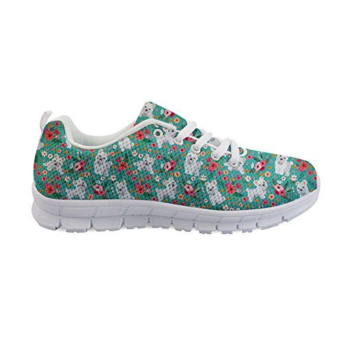 Damen H849AQ2 Freizeit Coloranimal Flower Maltese ColoranimalK qzvwt