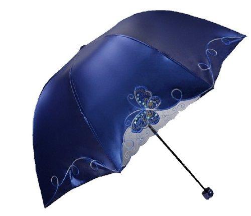petty cabin hongda butterfly anti uv sun umbrella four folding uv protected parasol buy online. Black Bedroom Furniture Sets. Home Design Ideas