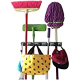 Champ Grip. Strongest Grippers Mop Broom Holders with 5 Ball Slots and 6 Hooks. Items Guaranteed Non Slide. Life-time Guarantee.