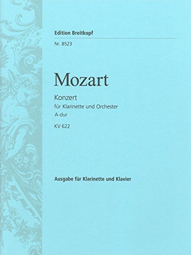Klarinettenkonzert A-dur KV 622 - Ausgabe für Klarinette und Klavier (EB 8523)