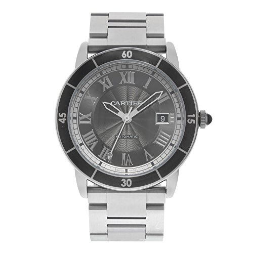 Cartier Ronde Croisiere 42mm Grey Dial Stainless Steel Automatic Mens Watch WSRN0011 (Certified Pre-Owned)
