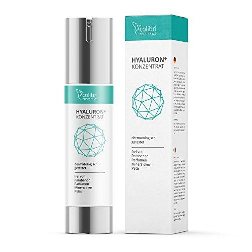 Hyaluronsäure Konzentrat - NEU! hochdosiertes Hyaluron Anti Aging Serum Gel gegen Falten - 50ml von colibri cosmetics | Naturkosmetik made in Germany